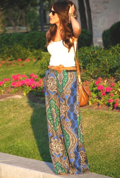 Palazzo Pants Multi-colored printed