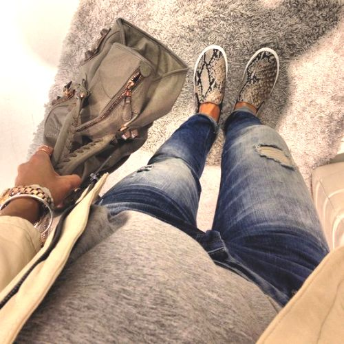 animal print slip on sneaker