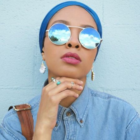 blue mirror sunglasses with turban