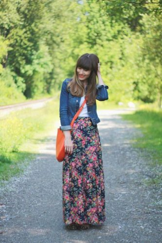floral chic maxi skirt