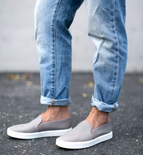 gray slip on shoes