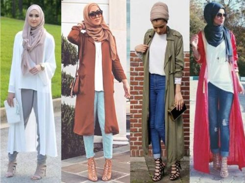 lace up heels with hijab outfits