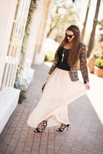 lace up heels with maxi skirt