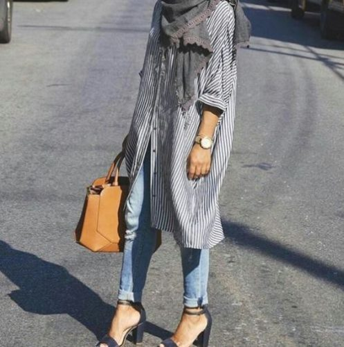 How To Wear Shirt Dress With Hijab Just Trendy Girls