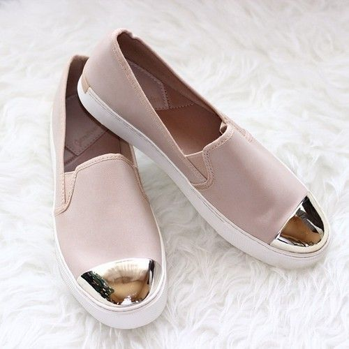 nude Stradivarius  slip on shoes