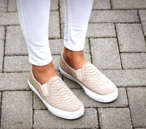 pastel neutral slip on