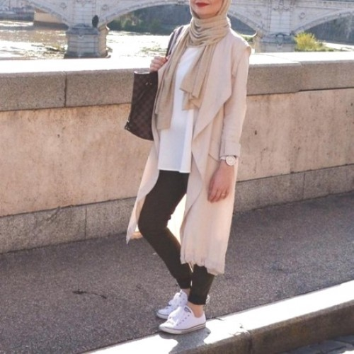 pastel trench coat with adidas