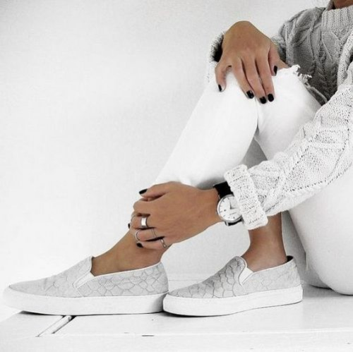 white neutral slip on