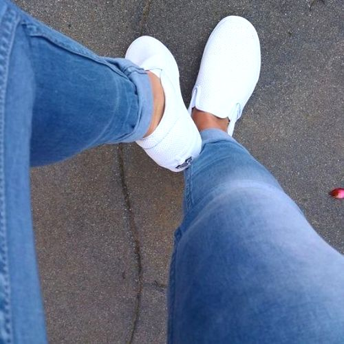 white slip on