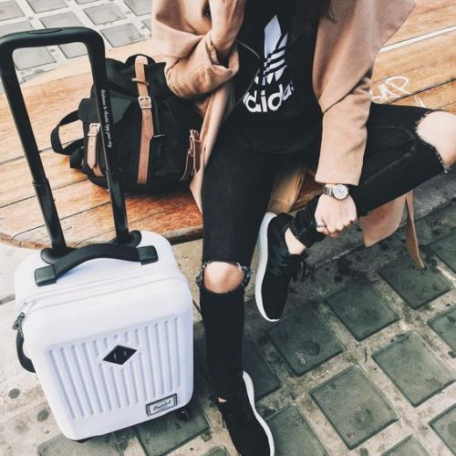 Travel in style with rolling luggage