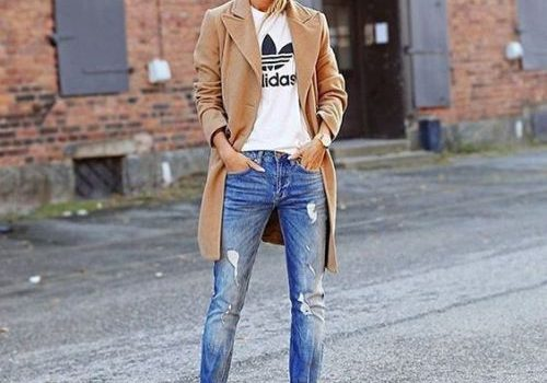 lowest price 91851 43d96 How to Wear Classic Adidas Sneakers Like a Street Style Star. Maxi coats  with Adidas outfit ideas