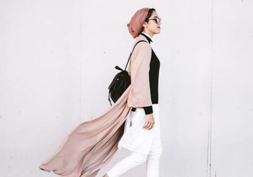 How to wear long cardigan with hijab