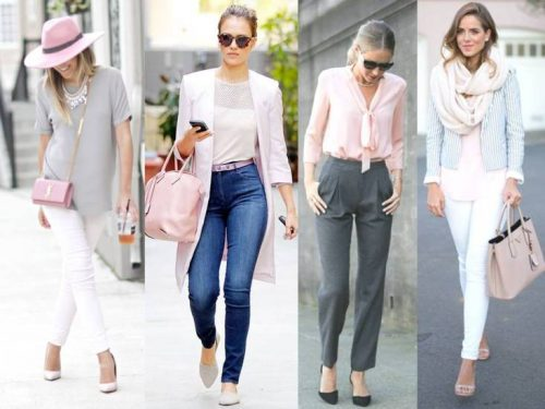 blush with white and gray