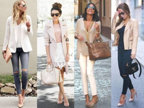 how to style nudes and blush