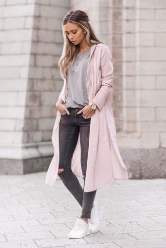 maxi pink coat adidas shoes