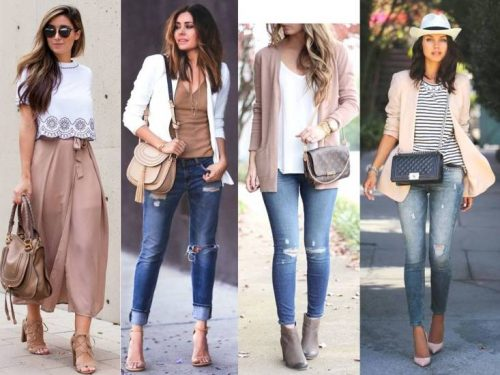 nude and blush outfits