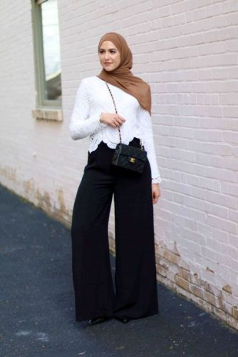 palazzo pants with lace top