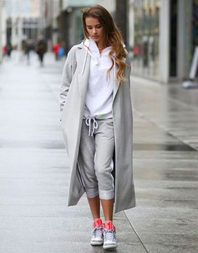 sporty casual style on the street