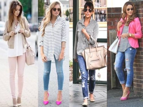 stripes and neutrals outfits