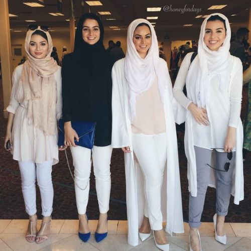 white neutral hijab
