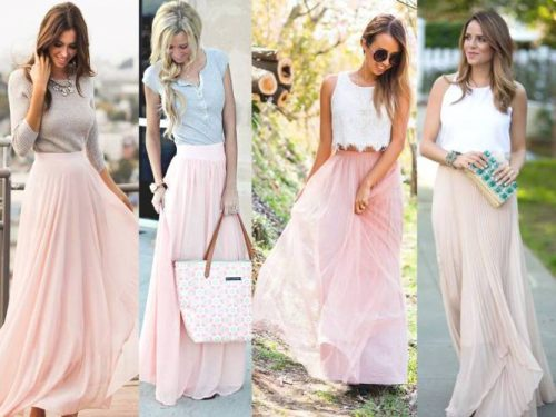 Amazing and beautiful blues pink skirts