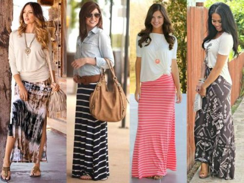 How to style striped skirts