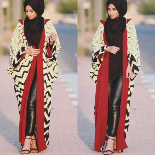 abaya with leather pants