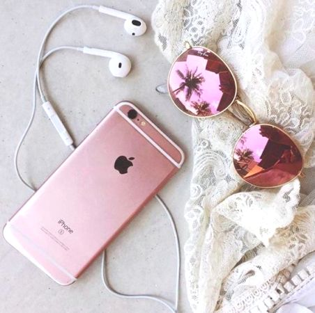 blush iphone and sunnies
