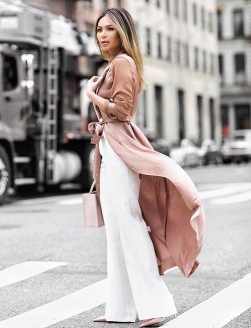 blush long cardigan outfit