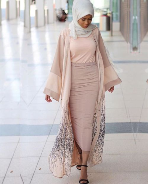 blush pastel neutral abaya style