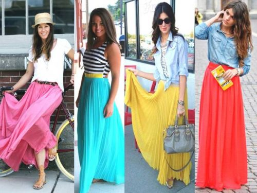 bright summer skirts