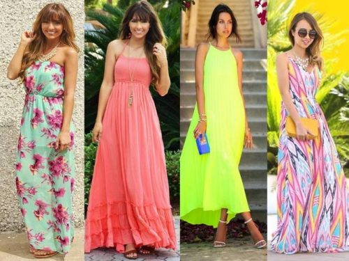 brigth and colorful dresses