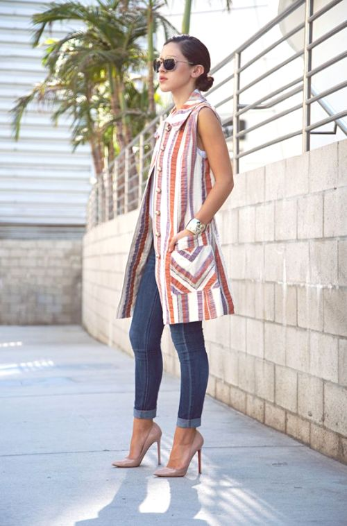 how to make a long vest