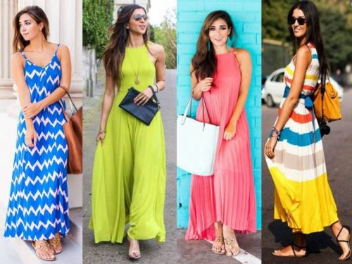 colors blocking summer dresses