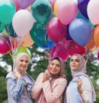 Eid colorful hijab outfits