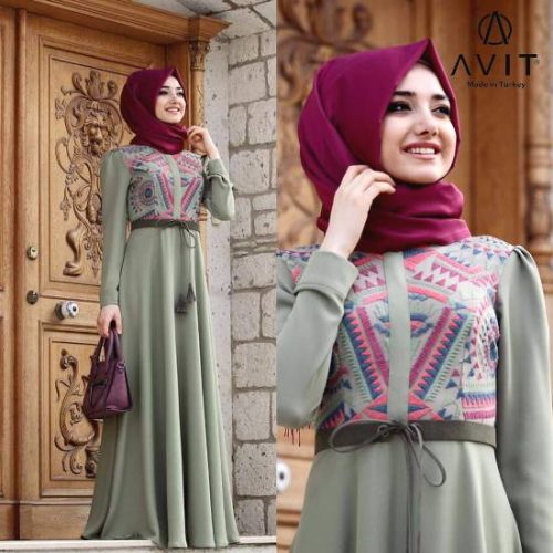 long sleeves maxi dress avit hijab