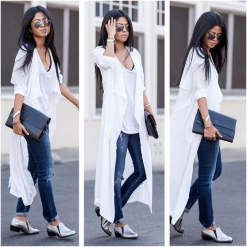 long white cardigan outfit
