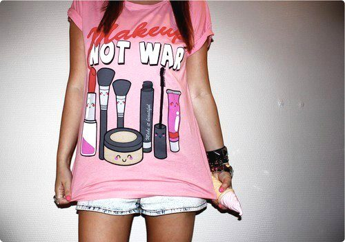 makeup girly tee