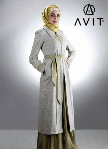 neutral trench coat avit hijab