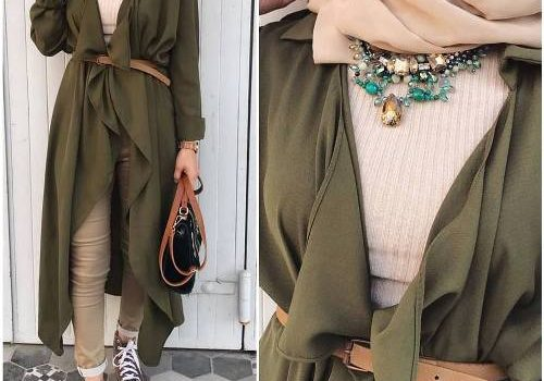 How to wear long tunic with hijab