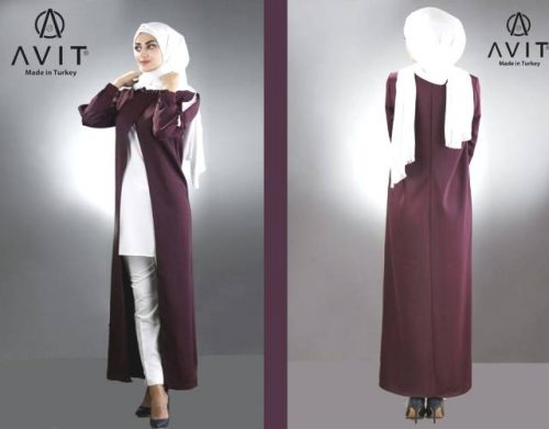 open cardigan maroon with white pants