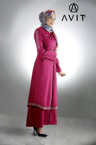 red maxi dress hijab avit