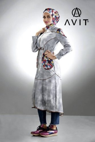 sporty casual trench coat hijab