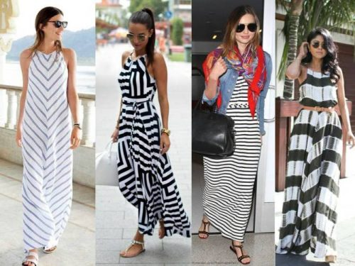 stirped maxi dresses