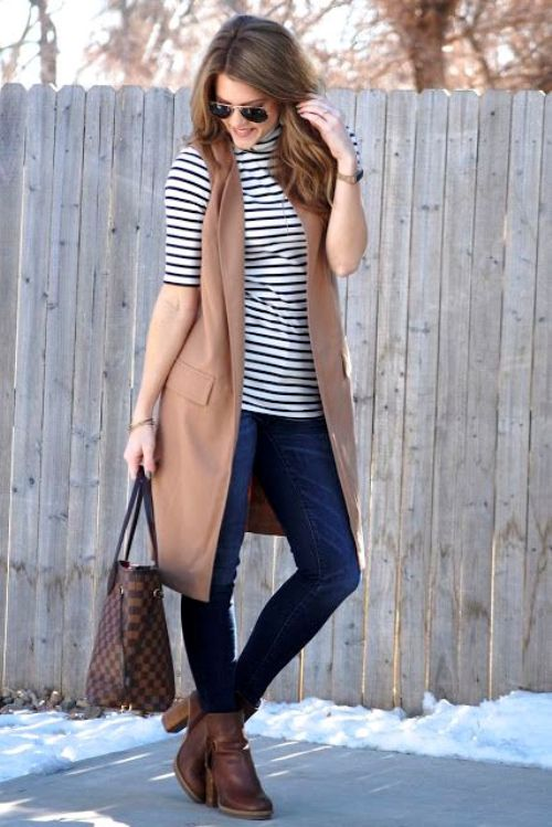 how to wear long vests just trendy girls