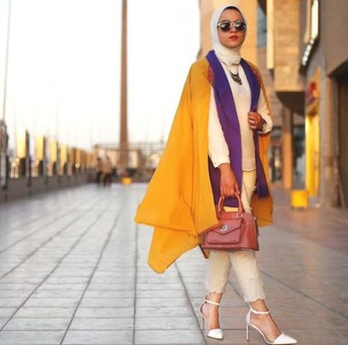 warm colors hijab outfit