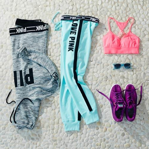 Colorfu Long-Sleeve Workout-Outfit,