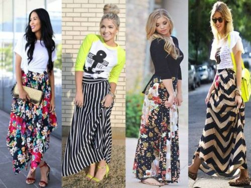 amazing printed and floral maxi skirts