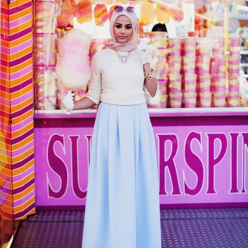 baby blue skirt hijab