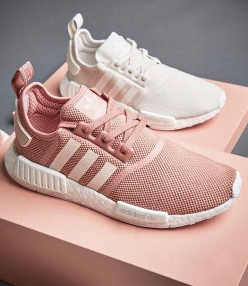 blush and white adidas